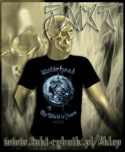 "Koszulka MOTORHEAD ""The World is Yours"" imp."