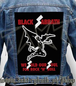 "Ekran na kurtkę BLACK SABBATH ""We Sold Our Souls For Rock'n'Roll"""