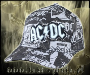 "Czapka AC/DC ""Records"" all print"