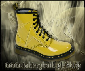 Glany 8 DR.MARTENS 1460 Sun Yellow Patent Lamper