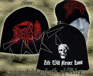 "Czapka DEATH ""Life Will Never Last"""