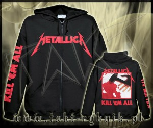 "Bluza na zamek METALLICA ""Kill'em All"" imp. ALL PRINT"