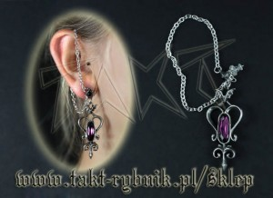 Kolczyk Alchemy MIDNIGHT EAR CHAIN