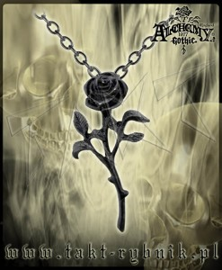 Wisiorek Alchemy THE ROMANCE OF THE BLACK ROSE
