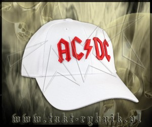 "Czapka AC/DC ""Red Logo"" WHITE"
