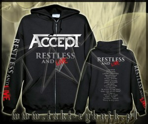 "Bluza na zamek ACCEPT ""Restless And Live"" imp."