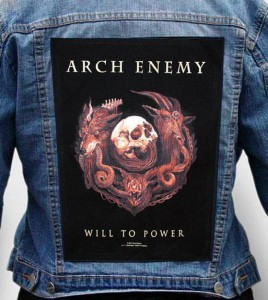 "Ekran na kurtkę ARCH ENEMY ""Will To Power"""