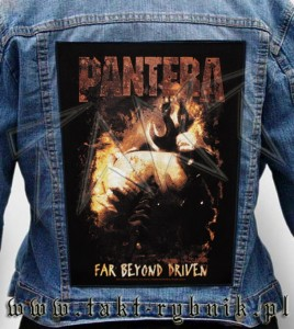 "Ekran na kurtkę PANTERA ""Far Beyond Driven"""