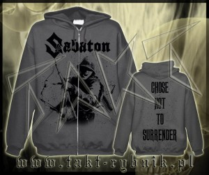 "Bluza na zamek SABATON ""Choose Not To Surrender"" GREY imp."