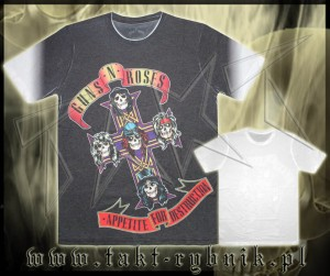 "Koszulka GUNS'n'ROSES ""Appetite For Destruction"" 2 ALL PRINT imp."