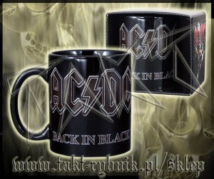 "Kubek AC/DC ""Back In Black"""