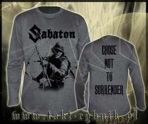 "Longsleeve SABATON ""Choose Not To Surrender"" GREY imp."