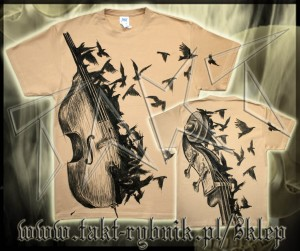 Koszulka BASS CROWS all print BEIGE
