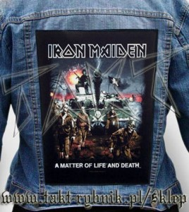 "Ekran na kurtkę IRON MAIDEN ""A Matter Of Life And Death"" 01"