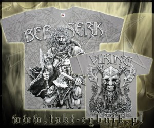 "Koszulka VIKING 44 ""Berserk"" GREY all print"