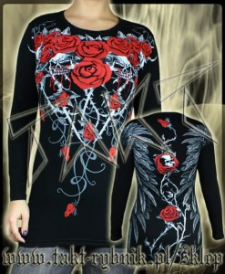 Tunika / longsleeve BLOODY ROSES all print
