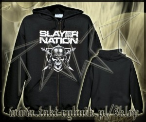 "Bluza na zamek SLAYER ""Slayer Nation"" imp."