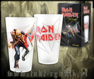 "Szklanka do piwa IRON MAIDEN ""The Trooper"""