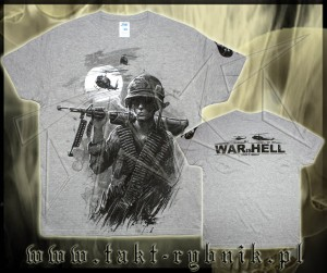 Koszulka WAR IS HELL all print GREY