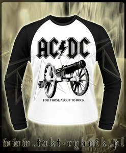 "Longsleeve AC/DC ""For Those About To Rock"" WHITE imp."