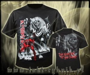 "Koszulka IRON MAIDEN ""The Number Of The Beast"" 3 imp."