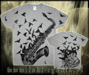 Koszulka SAKS CROWS grey ALL PRINT