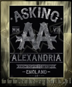 "Flaga ASKING ALEXANDRIA ""From Death To Destiny"""