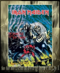 "Flaga IRON MAIDEN ""The Number Of The Beast"" - HFL049"