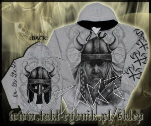 "Bluza na zamek VIKING 6 ""Warrior"" GREY"