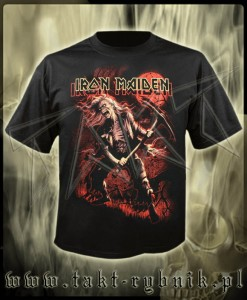 "Koszulka IRON MAIDEN ""Benjamin Breeg"" 3 red graphic imp."