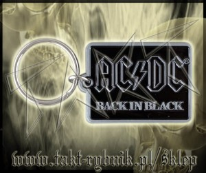 "Brelok AC/DC ""Back In Black"""