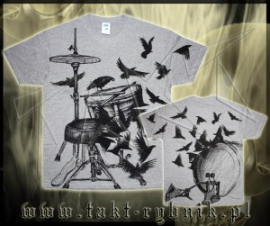 Koszulka DRUMS CROWS all print GREY