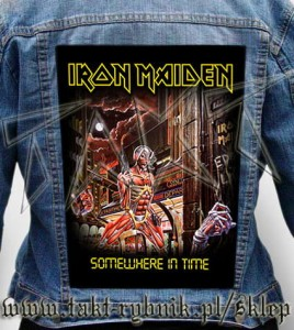 "Ekran na kurtkę IRON MAIDEN ""Somewhere In Time"""