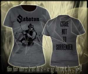 "Bluzka damska SABATON ""Chose Not To Surrender"" imp."