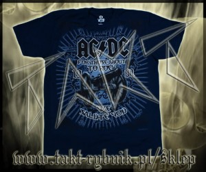 "Koszulka AC/DC ""For Those About To Rock"" 2 NAVY imp."