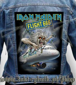 "Ekran na kurtkę IRON MAIDEN ""Flight 666"""