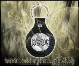 "Brelok AC/DC ""Logo"" leather"