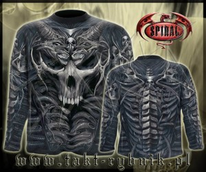 Longsleeve SKULL ARMOUR imp. ALL PRINT
