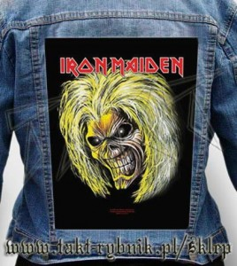 "Ekran na kurtkę IRON MAIDEN ""Killers Head"""