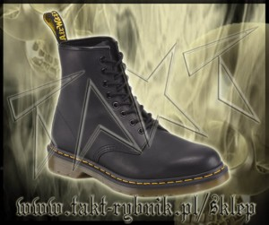 Glany 8 DR.MARTENS 1460 Black Greasy