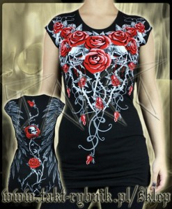Tunika BLOODY ROSES all print TD03