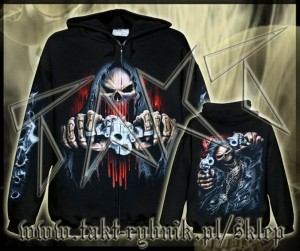 Bluza na zamek ASSASSIN imp. ALL PRINT
