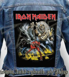 "Ekran na kurtkę IRON MAIDEN ""The Number Of The Beast"""