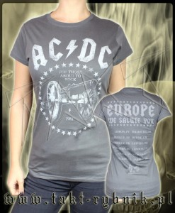 "Bluzka damska AC/DC ""For Those About To Rock"" GREY"