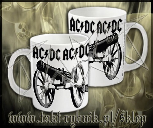 "Kubek AC/DC ""For Those About To Rock"" 3 WHITE"